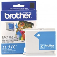 Cartucho Original de Tinta Cian Brother Modelo LC51C P- 400 Pag.