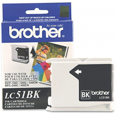 Cartucho Original de Tinta Negro Brother LC51BK P-500 Pag.