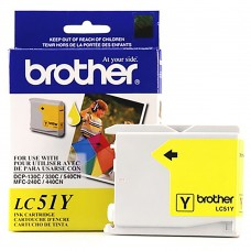 Cartucho Original de Tinta Amarillo Brother LC51Y P-400 Pag.