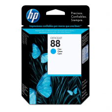 Cartucho Original de Tinta Cian HP 88 Officejet C9386AL P- 860 Pag.